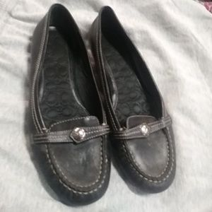 Coach Virginia loafers black leather